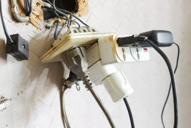 Damaged Outlet and Cords electrical installations orlando fl